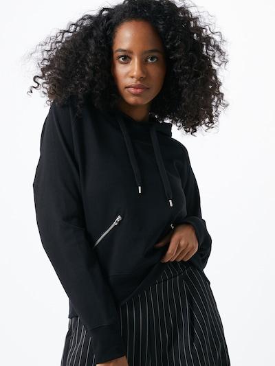 Bluză de molton 'Hedda' ABOUT YOU pe negru: Privire frontală