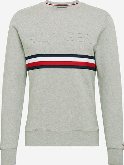 TOMMY HILFIGER Sweat-shirt en bleu / gris / rouge / blanc, Vue avec produit