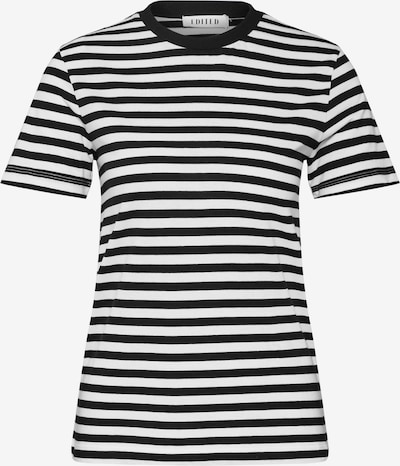 Tricou 'Leila' EDITED pe negru / offwhite: Privire frontală