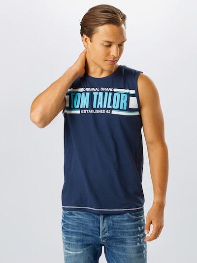 TOM TAILOR Tričko - světlemodrá / tmavě modrá / bílá: Pohled zepředu