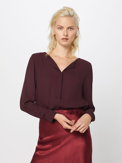 VILA Blouse in de kleur Wijnrood, Modelweergave