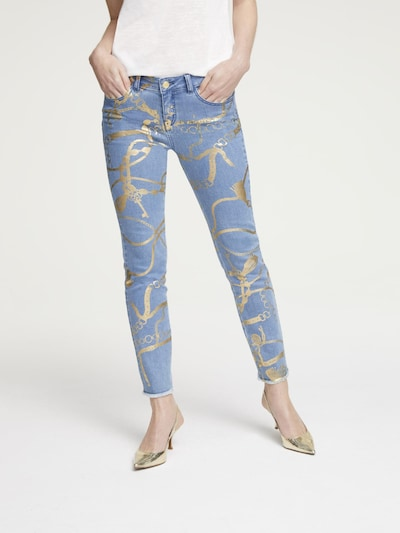 heine Jeans in blue denim / gold, Modelansicht