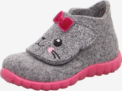 SUPERFIT Mājas apavi 'Happy' pieejami pelēks / raibi rozā / melns, Preces skats