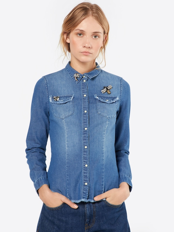 ONLY Jeans Bluse 'onlROCK IT FIT'