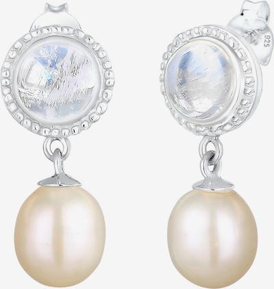 ELLI PREMIUM Boucles d'oreilles en argent / blanc perle: Vue de face
