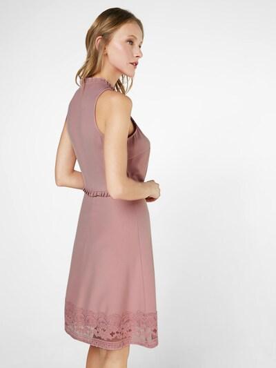 Carolina Cavour Cocktail Kleid in rosé: Rückansicht