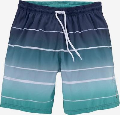 BENCH Szorty kąpielowe w kolorze granatowy / turkusowy / gołąbkowo niebieski / białym, Podgląd produktu