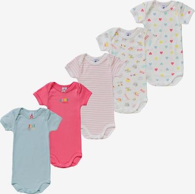 PETIT BATEAU Bodies in hellblau / pink / rosa / weiß, Produktansicht