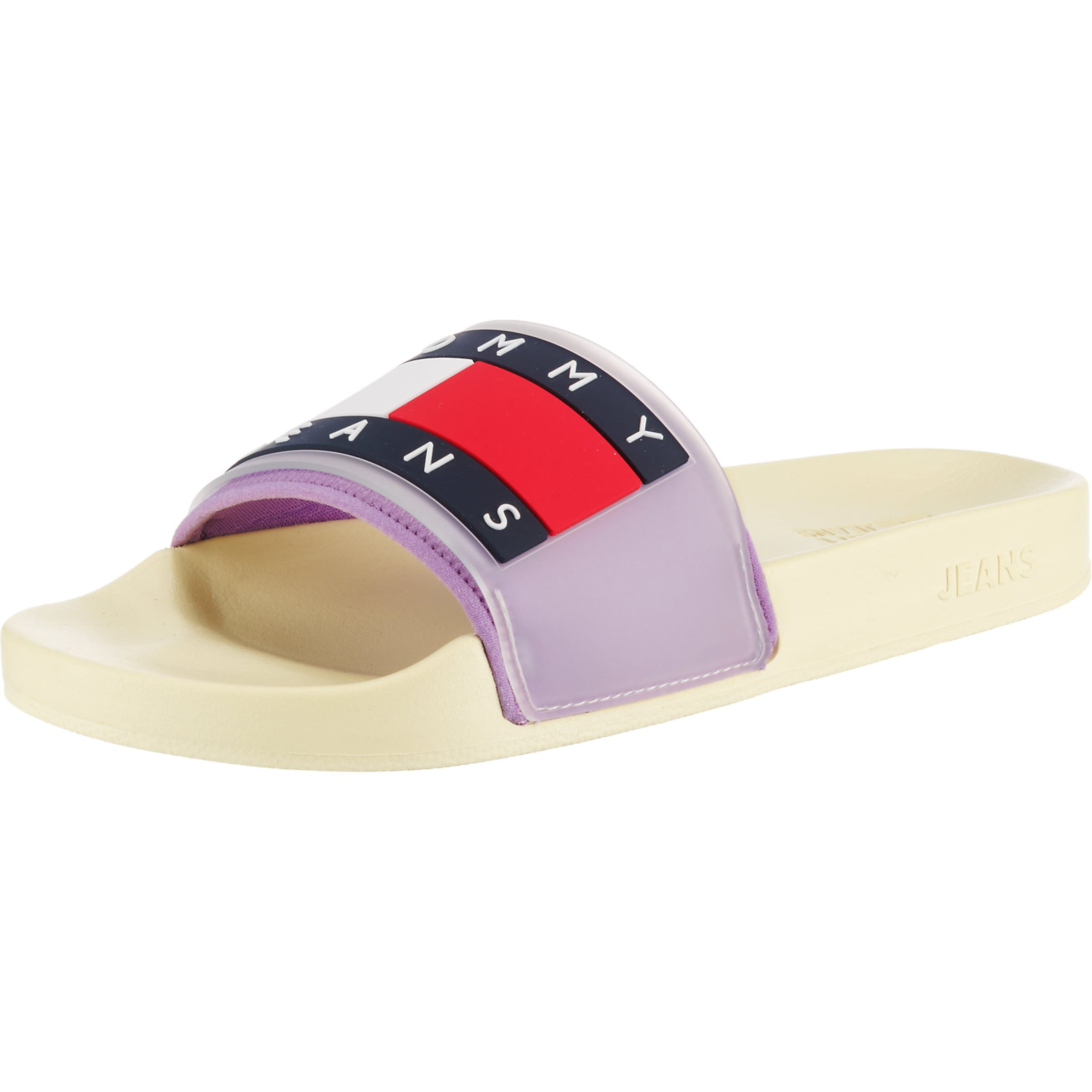 'translucent Pool Slide' Jeans Slipper In Flag GelbHelllila Tommy FTl1KJ3c