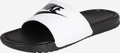 Nike Sportswear Pantolette 'Benassi Just Do It' in schwarz / weiß, Produktansicht
