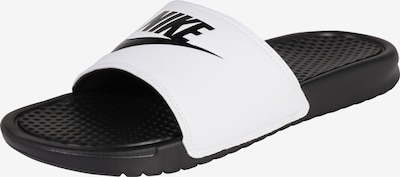 Nike Sportswear Pantolette 'Benassi Just Do It' in schwarz / weiß: Frontalansicht