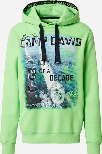 CAMP DAVID Sweat-shirt en vert fluo, Vue avec produit