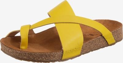 HAFLINGER Pantolette 'Jack' in gelb, Produktansicht