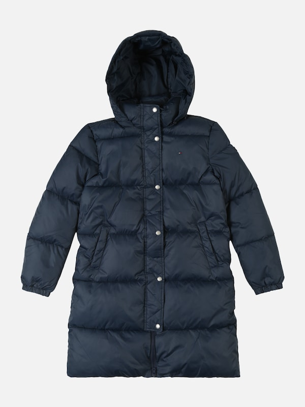 TOMMY HILFIGER Mantel 'RECYCLED EXTRA LONG PUFFER' in dunkelblau