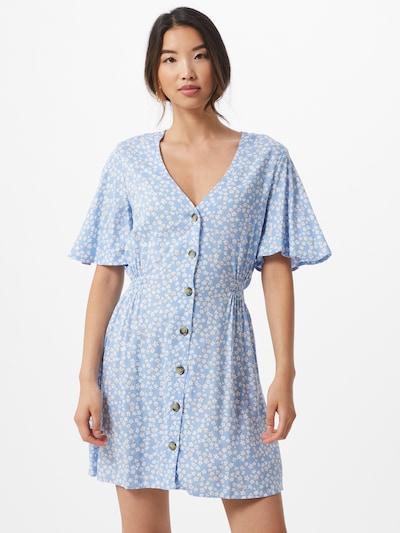Tally Weijl Letní šaty 'WOVEN' - světlemodrá / bílá: Pohled zepředu