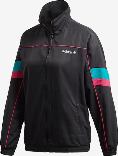 ADIDAS ORIGINALS Jacke in türkis / neonpink / schwarz, Produktansicht