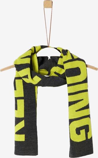 s.Oliver Strickschal in gelb / schwarz, Produktansicht