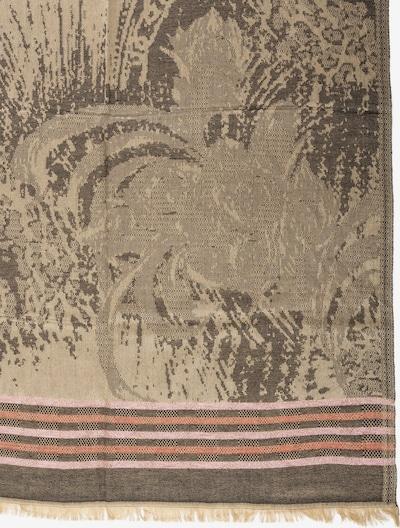 APART Jacquard-Schal mit Streifen in dunkelbeige / dunkelgrau / rosé, Produktansicht