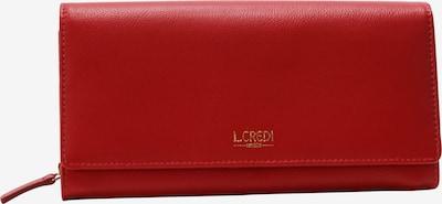 L.CREDI Geldbörse 'Evelyn' in rot / dunkelrot, Produktansicht