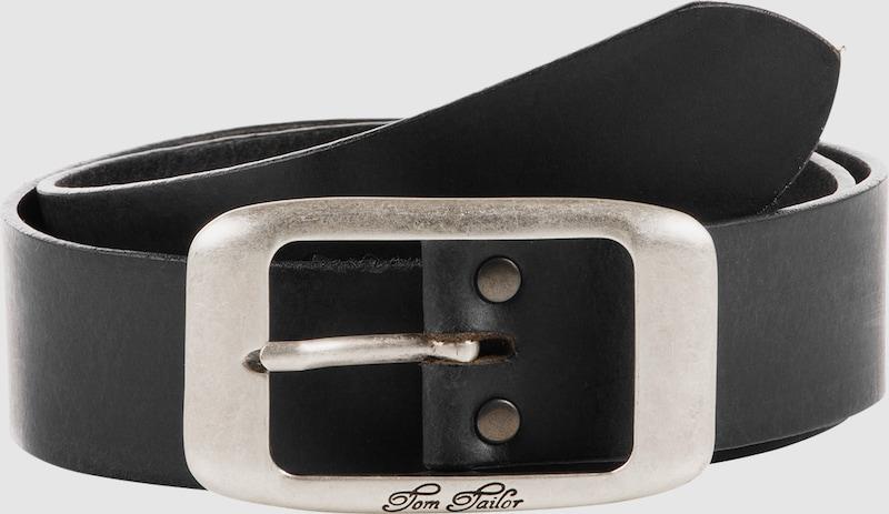 TOM TAILOR Ledergürtel 'used cow leather belt'