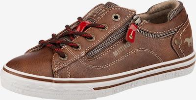MUSTANG Sneaker in braun / rot: Frontalansicht