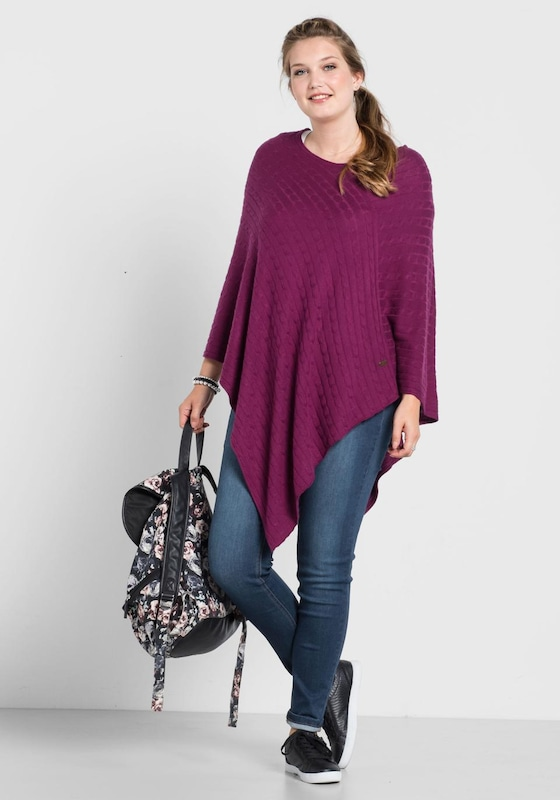 sheego casual Strickponcho