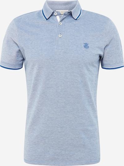 SELECTED HOMME T-shirt 'Twist' i ljusblå / vit, Produktvy