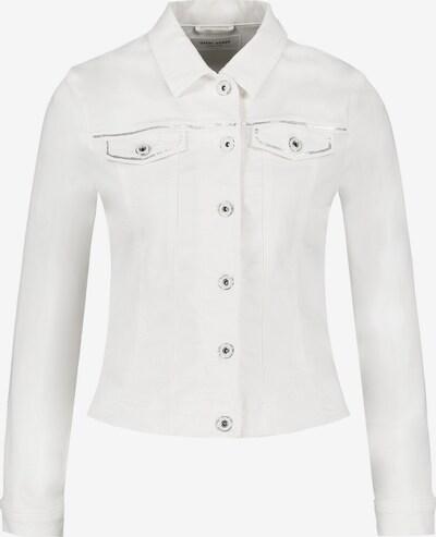 GERRY WEBER Jacke Jeans + Gewebe Jeansjacke mit Paillettenapplikation in offwhite, Produktansicht