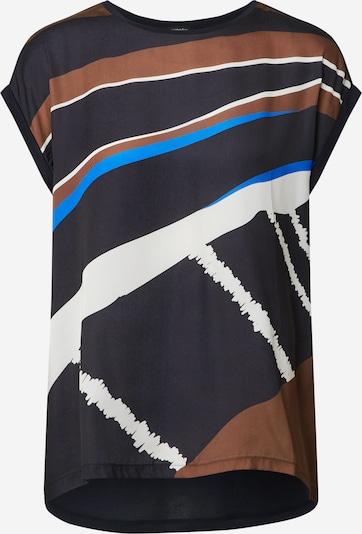 Someday Blouse 'Kori' in de kleur Navy / Hemelsblauw / Bruin / Wit, Productweergave