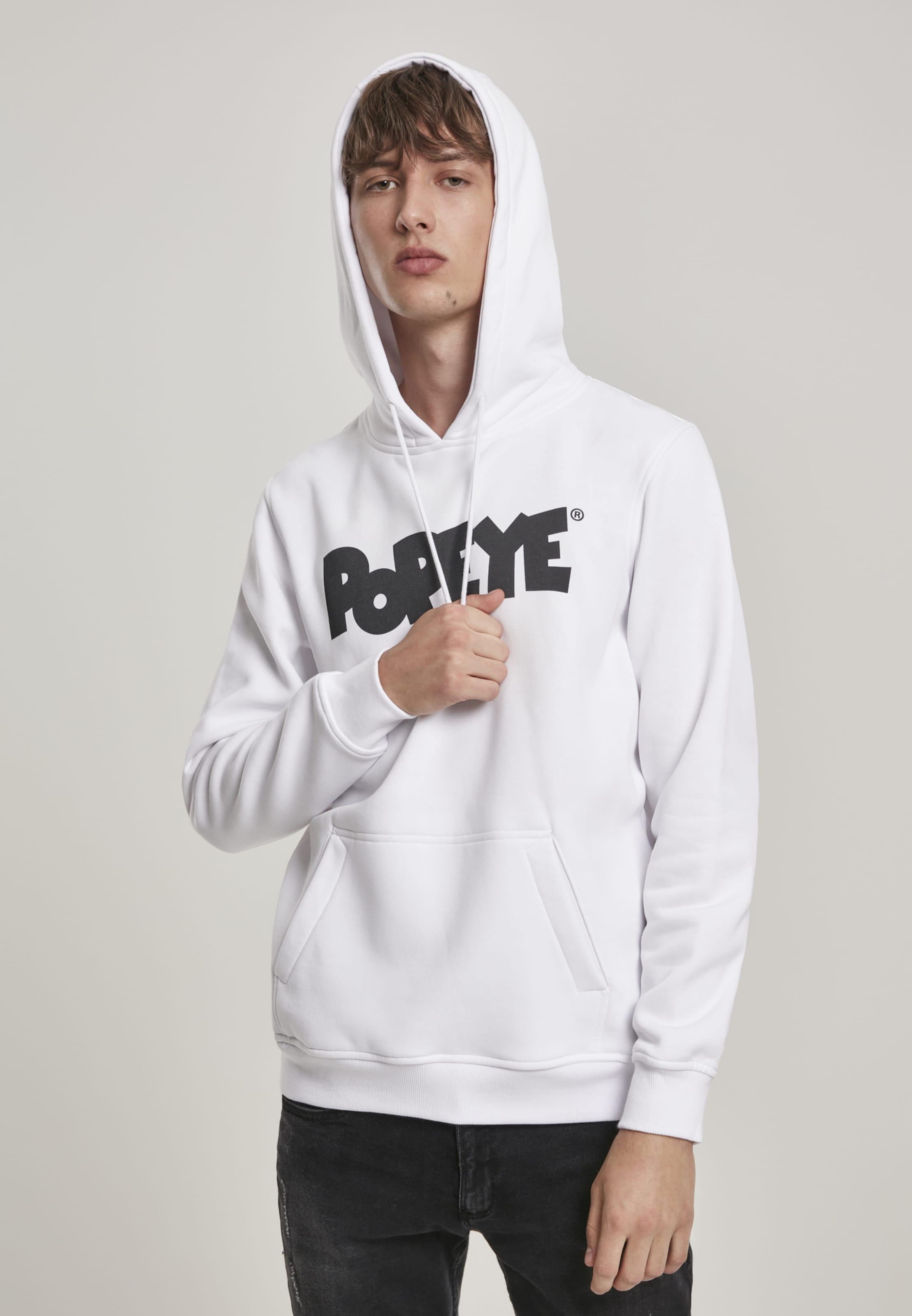Mister Tee Sweatshirt 'Popeye Gulp' in weiß Baumwolle MC416-00220-0042