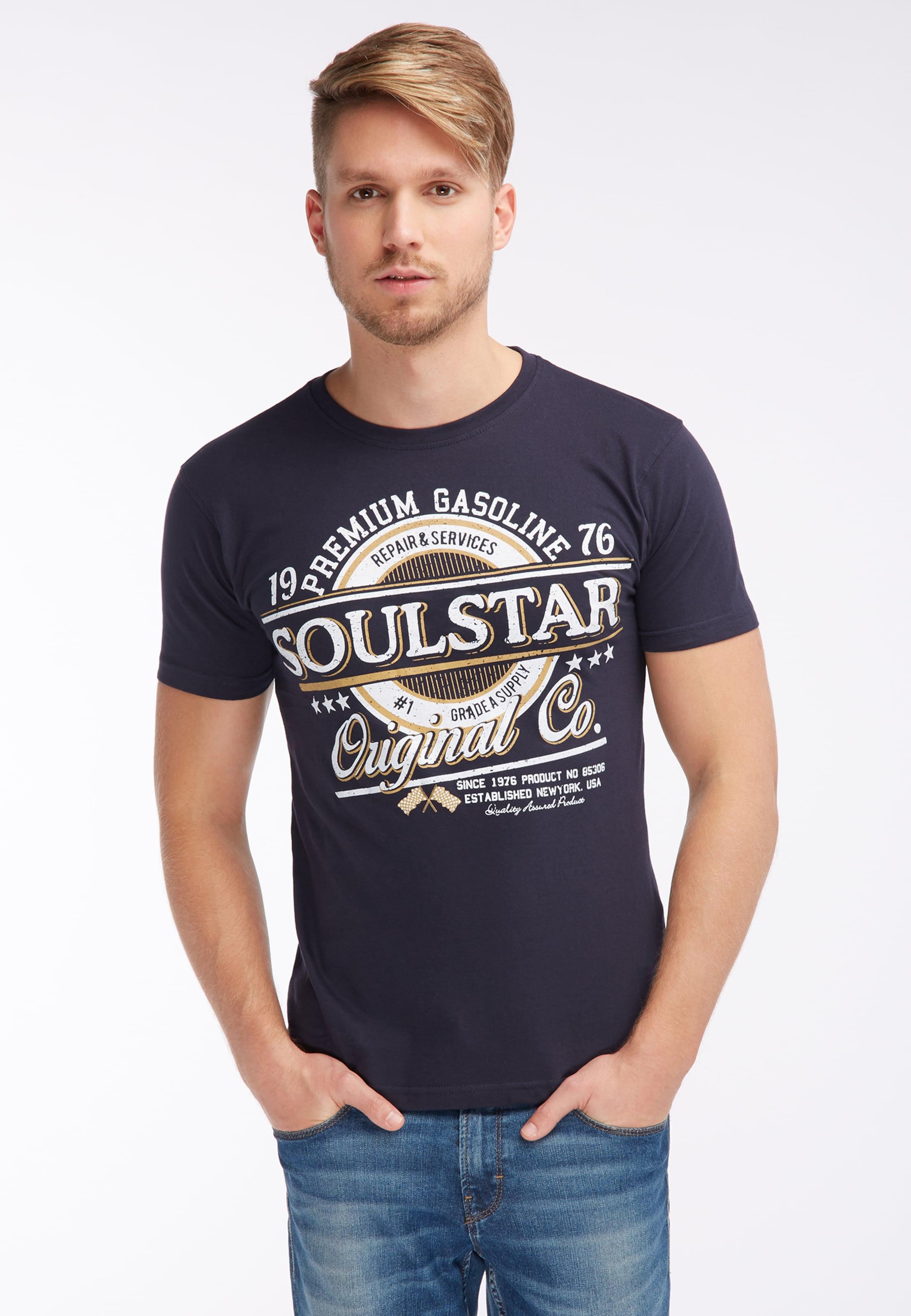 En shirt Soulstar MarineJaune T Blanc lKJ3T1cu5F