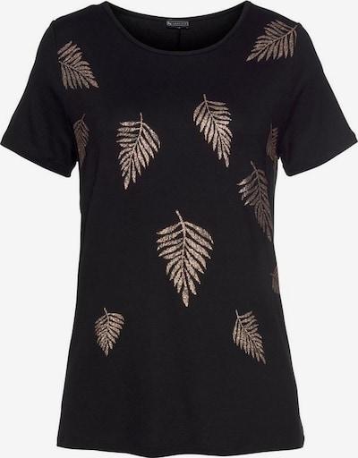 LAURA SCOTT Rundhalsshirt in gold / schwarz, Produktansicht