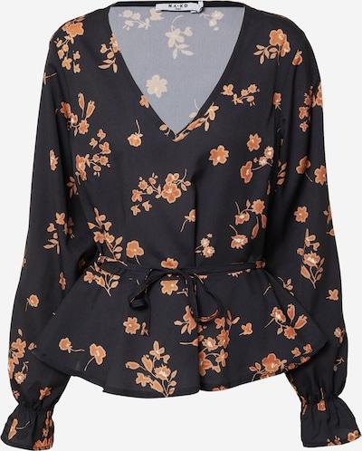 NA-KD Bluse in orange / schwarz, Produktansicht