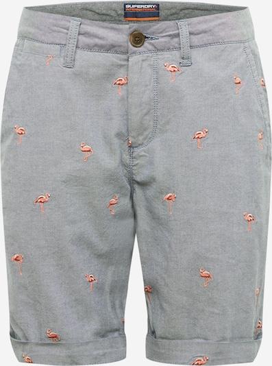 Superdry Chino-püksid suitsusinine / roosa / valge, Tootevaade