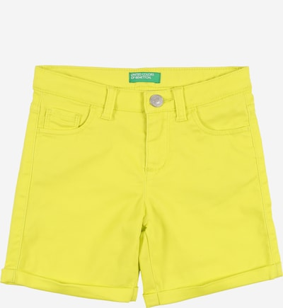 UNITED COLORS OF BENETTON Shorts in gelb, Produktansicht