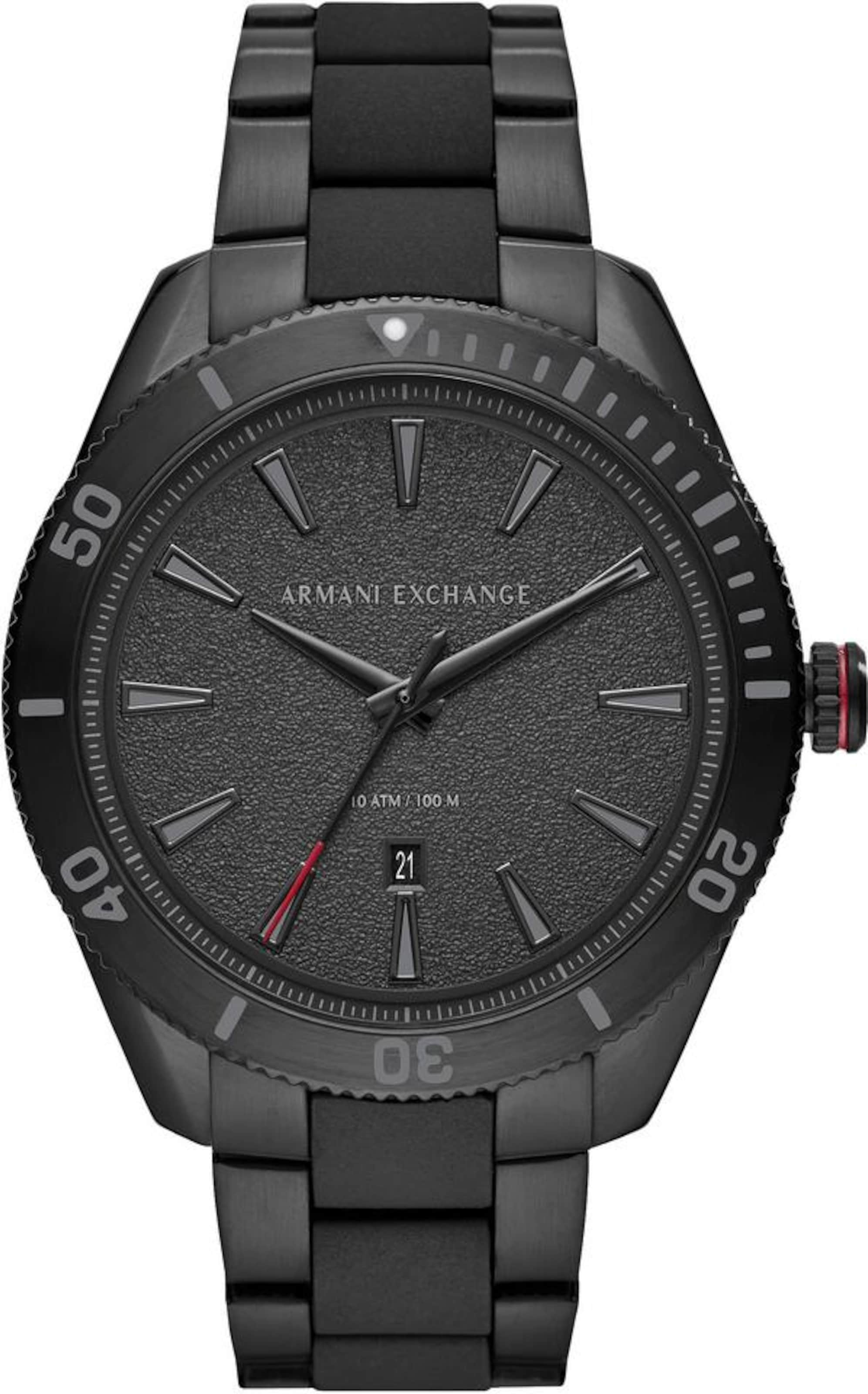 Exchange Exchange Armani Quarzuhr In Schwarz Quarzuhr Armani In Schwarz Armani Exchange 0wO8Pnk