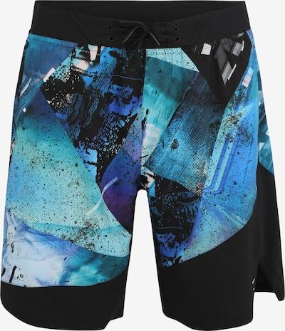 REEBOK Sportbroek 'TS Epic Short Aop Q' in de kleur Blauw / Gemengde kleuren / Zwart, Productweergave