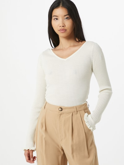 SELECTED FEMME Pullover 'Costa' in weiß: Frontalansicht