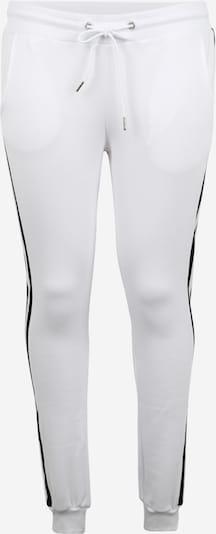 Urban Classics Curvy Hose in schwarz / weiß: Frontalansicht