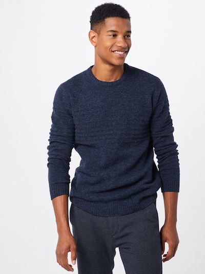 Only & Sons Pullover 'onsHOWARD 7 SOFT CREW NECK KNIT' in dunkelblau: Frontalansicht
