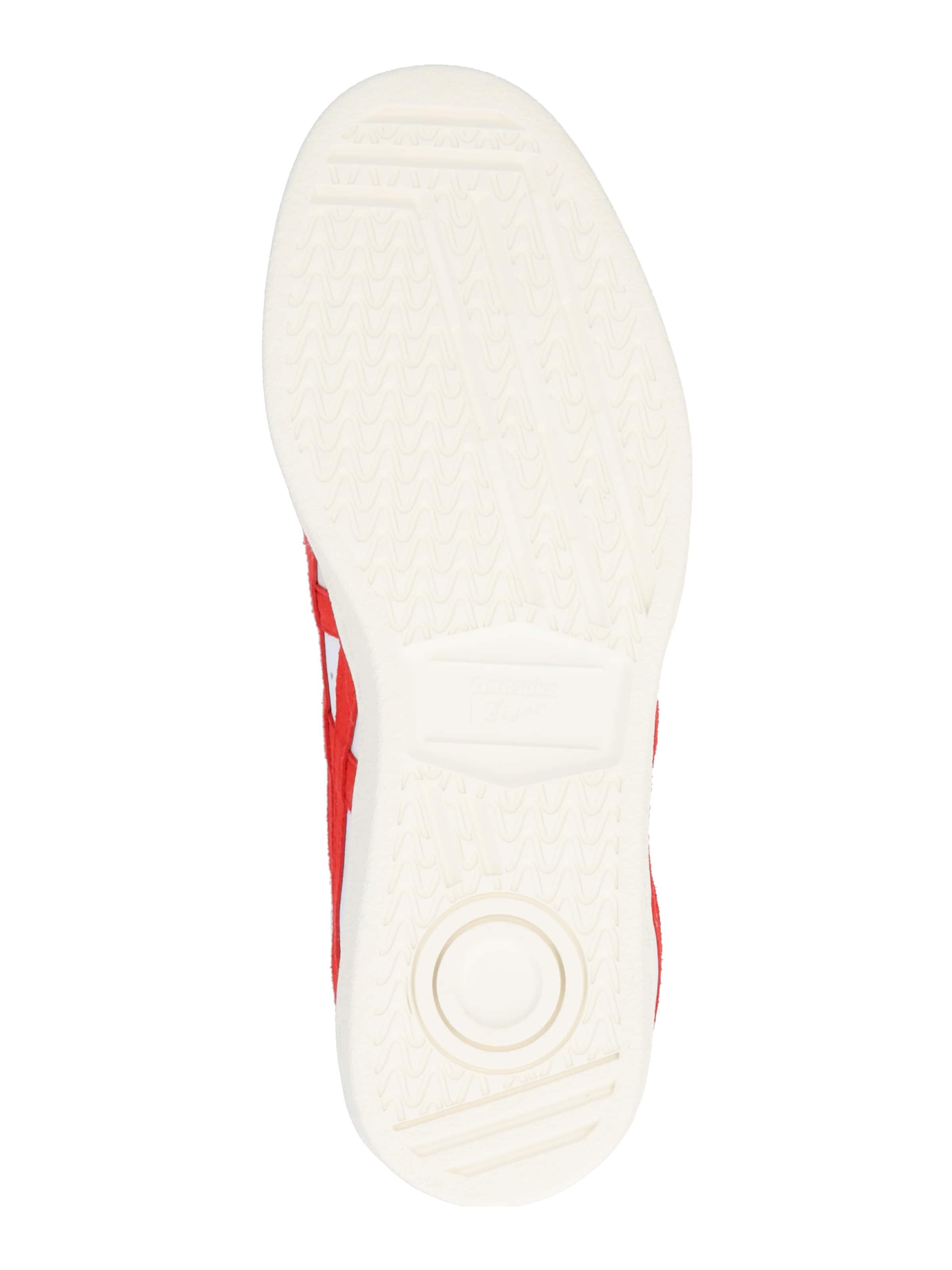 Onitsuka Tiger Rövid szárú edzőcipők 'GSM' bézs / piros / fehér színben