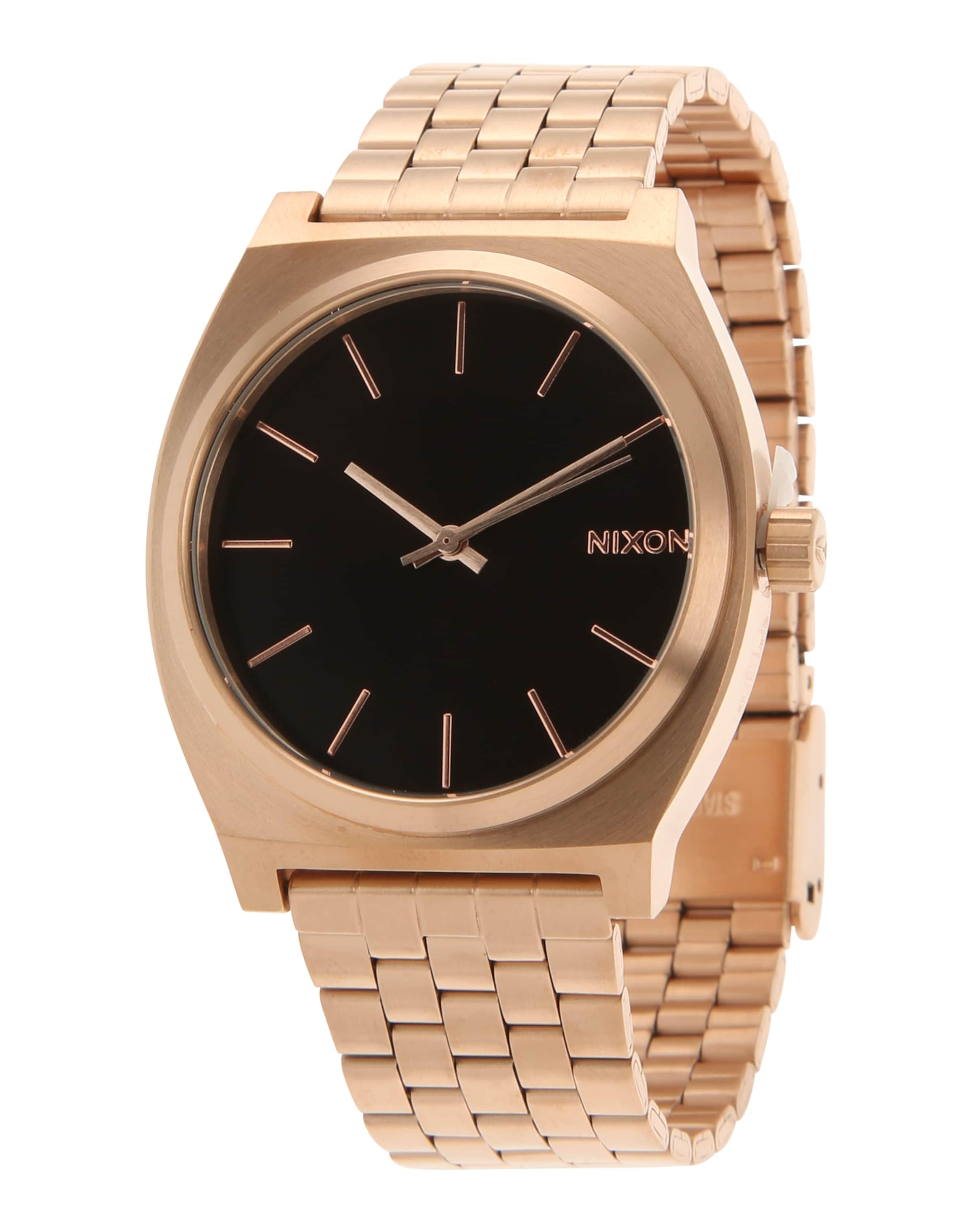 GoudZwart 'time Teller' Analoog Horloge In Nixon AL4qc3jR5