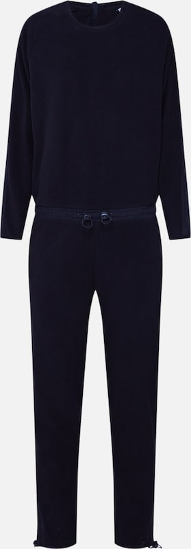 Urban Classics Overall 'Ladies Polar Fleece Jumpsuit' in schwarz: Frontalansicht