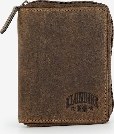 KLONDIKE 1896 Geldbörse 'Riley' in braun: Frontalansicht