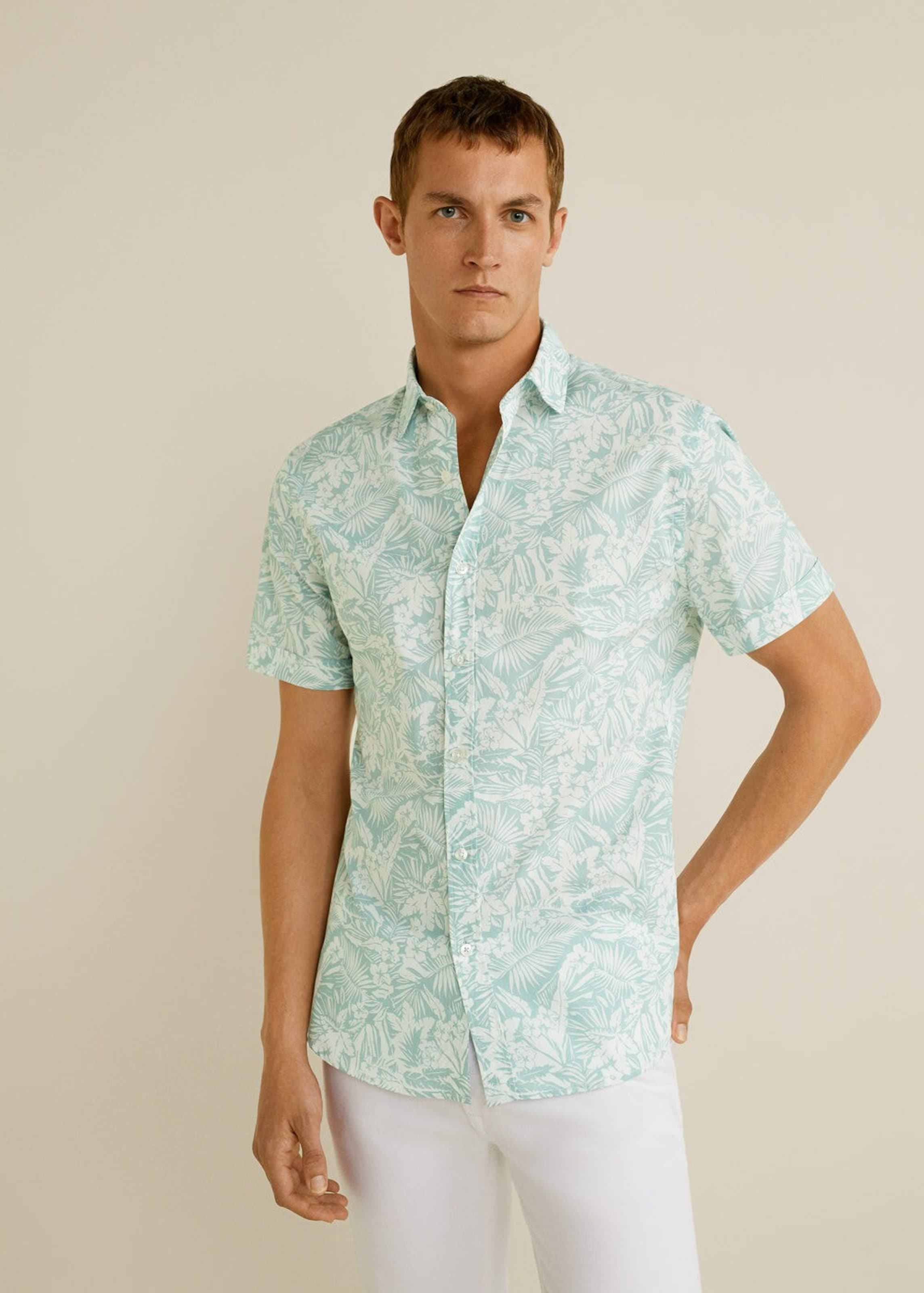 PastellgrünWeiß 'ham Mango Man Hemd In h' ukXiOZP