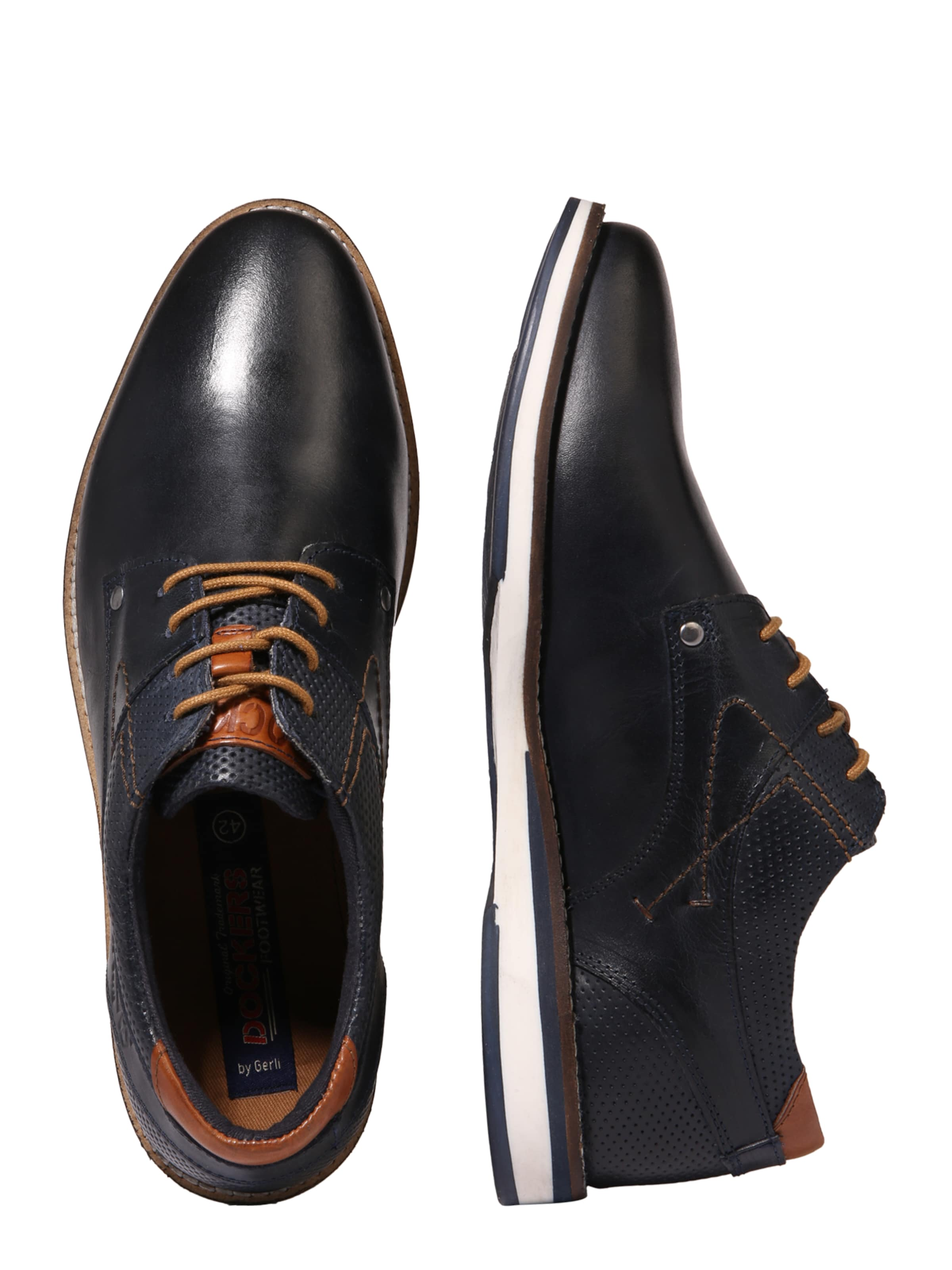 NavyCognac By In Dockers Gerli Halbschuhe Lq4S5Rjc3A
