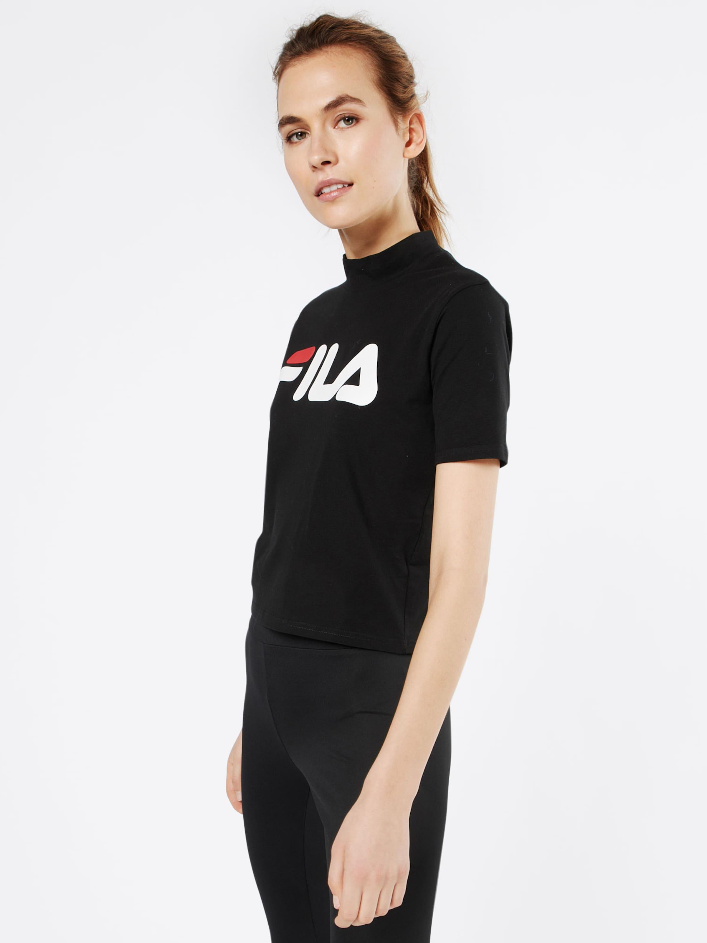 FILA Cropped Shirt mit Label-Print