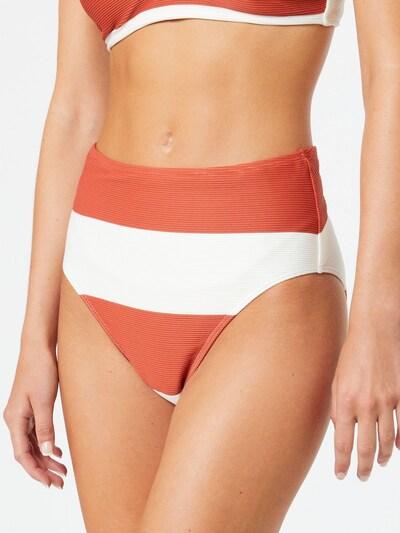 ROXY Bas de bikini 'SISTERS' en orange foncé / blanc, Vue avec modèle