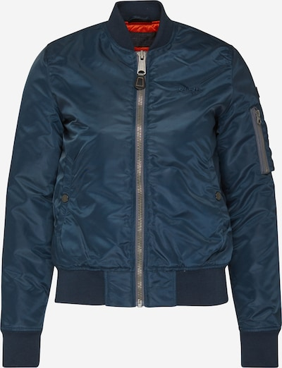 Schott NYC Tussenjas 'Airforce W' in de kleur Navy, Productweergave