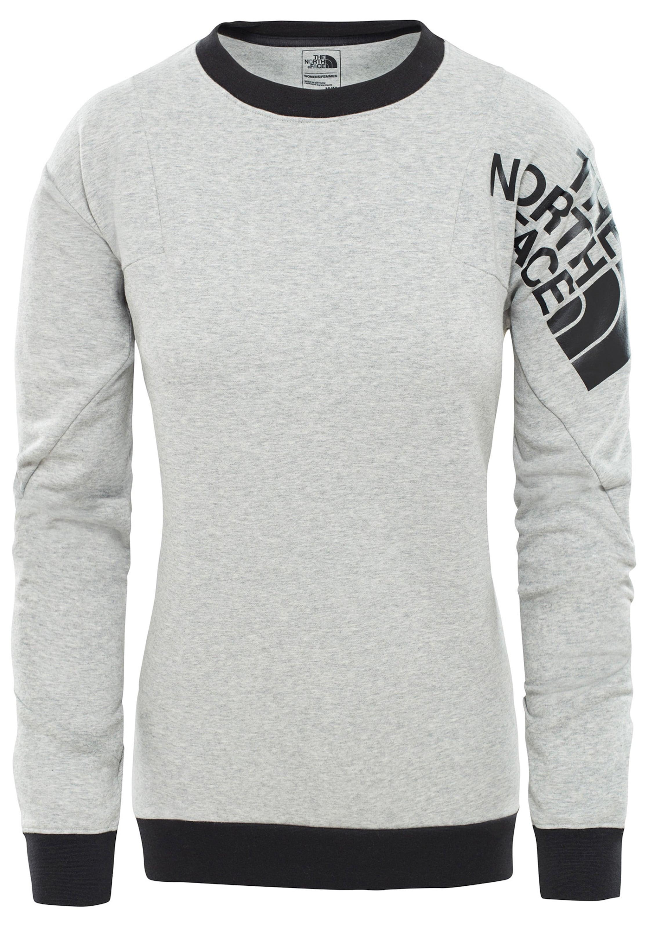 In GraumeliertSchwarz Sweatshirt The Face North Logo' 'train N XPZOkTiu